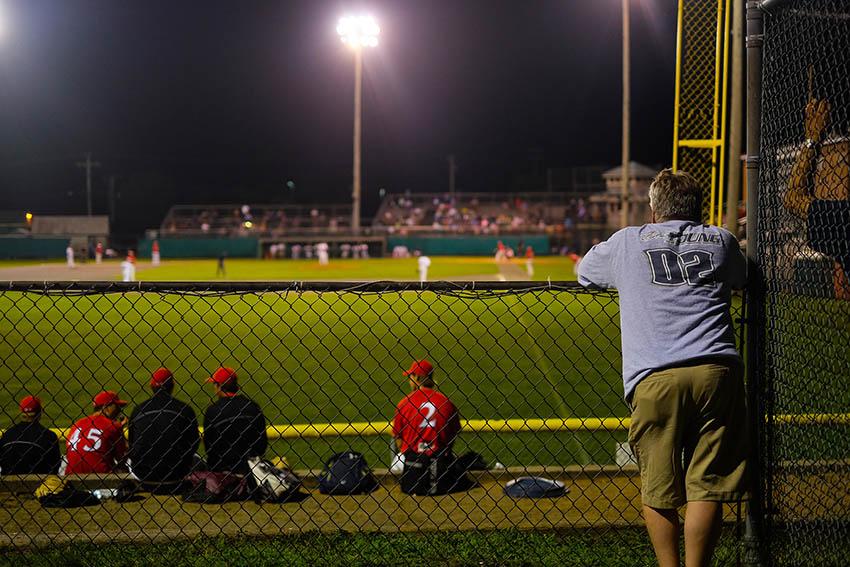Observation d'un match de baseball